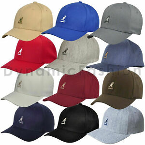 100% Authentic Mens KANGOL Baseball Cap Wool Blend  Sizes S/M L/XL XXL
