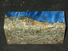 "Stabilized Maple Burl Acrylic Shredded money Gold Flake block 5"""