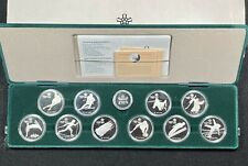 BEAUTIFUL COMPLETE SET OF 10 1988 CANADA $20 OLYMPIC COINS. 10 TROY OZ SILVER!