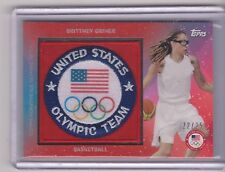 RARE 2016 TOPPS OLYMPIC BRITTNEY GRINER TEAM PATCH CARD /25 ~ BAYLOR BASKETBALL