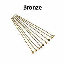 200pcs 16-50mm Metal Ball Head Pins Dia 0.5mm For Diy Jewelry Making Findings