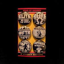 "NJPW Wrestling 1"" Button Pins THE ELITE Kenny Omega Young Bucks Bullet Club ROH"