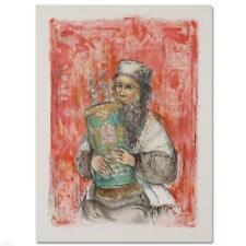 "Edna Hibel ""Israeli Rabbi"" Hand Signed"