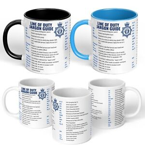 Line of Duty MUG Season AC-12 AC12  Novelty Police Television GIFT⭐ Jargon Guide