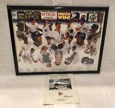 """1998 NY Yankees """"Dream Season"""" Lithograph Signed By David Cone LE #1180/1998 AAC"""