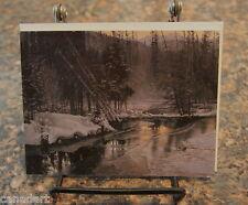 Robert BATEMAN 1 Winter Sunset Moose art card RARE with envelope