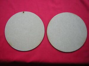20cm / 200mm  MDF CIRCLE x 2 -  LASER CUT