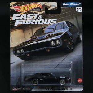 Hot Wheels - Fast & Furious - '71 Plymouth GTX - Premium - Brand New