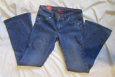 dELiA*s Corey Double Button Stretch Women's Blue Denim Jeans Size 3/4 NWT