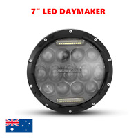 "7"" Black Motorcycle LED daymaker Headlight Daytime Harley SOFTAIL ELECTRA GLIDE"