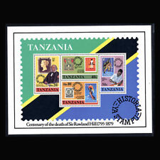 Tanzania, Sc #144a, MNH, 1980, S/S, Stamps on Stamps, CL047F