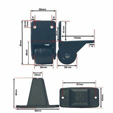Koffer Rollen Räder mit Bodengleitern Füße Ersatzteile Trolley Zubehör SET 60717