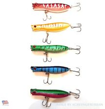 US Lot of 5 New Fishing Lures Top water Popper, Crankbait BASS