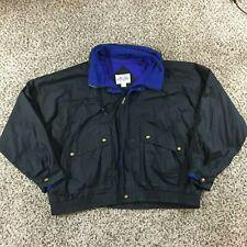 VTG 90s McGregor Men Sz 3XL Windbreaker Ski Jacket Concealed Hood Blue Black