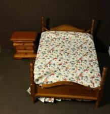 Dollhouse Miniature Single Bed /& Night Stand 1:12 inch scale Y57A Dollys Gallery