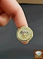 10k Gold Ring Medusa Head  Size 11 Real Solid 10k Yellow Gold Men's Ring Band