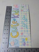 COLORBOK DAVID WALKER BABY BANNER BLUE CUTE KID STICKERS SCRAPBOOKING NEW A2888