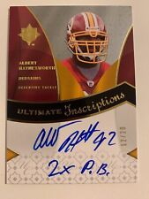 Albert Haynesworth 2009 Ultimate Collection Inscriptions AUTO Redskins #'d /20
