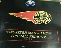 LIONEL WESTERN MARYLAND FIREBALL GP-7 FREIGHT TRAIN SET 6-31719 FOR MTH O GAUGE
