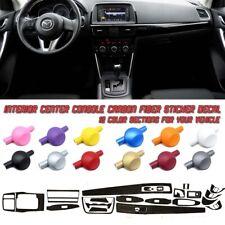 5D Carbon Fiber Vinyl Film Interior Center Console Sticker For Mazda CX-5 13-15