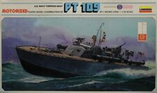 Lindberg 1:32 PT-109 US Navy Torpedo Boat Motorized Plastic Model Kit #812U