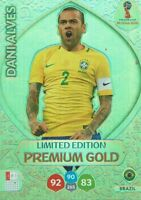 Panini Adrenalyn XL World Cup 2018 Russia WM Limited Edition Premium Dani Alves