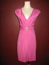 IAM I A M Alberto Makali S pink 4 6 solid versatile evening cocktail dress