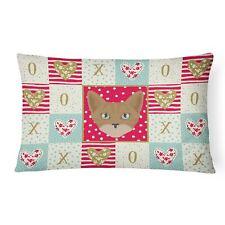 """Caroline's Treasures Love Canvas Fabric Decorative Pillow Patio-Furniture-P."