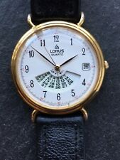 Ladies Lorus Quartz Gold Plated Perpetual Calendar Watch with Date