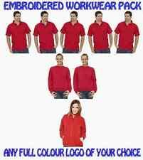 Work Wear Pack 5 Polo shirts. 2 Sweatshirts 1 Fleece Jacket. FREE FULL LOGO!