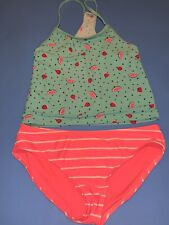 Old Navy Girls Tankini 2pc Bathing Suit Size XL Turquoise Pink Watermelons