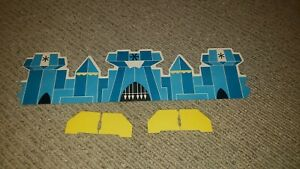 Vintage POW! Cannon Game For Boys Center Castle Divider Wall 3 Pieces Cardboard