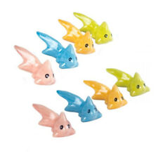 Miniature Ceramic Goldfish Figurines Ornaments Mixed Colours (Pack of Eight)
