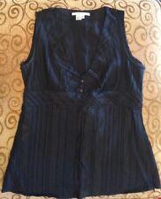 Femme Zara Basics Noir Col V Empire Top L