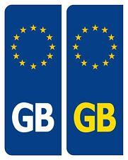 2 x GB Euro Number Plate Sticker EU European Car Vinyl Self Adhesive UK BN S2081