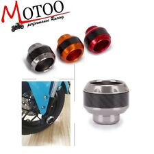 Motorcycle Universal 16mm Pair Front Frame Sliders Cup Pads Anti Drop Wheel Cap