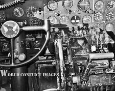 USAAF WW2 B-17 Bomber Cockpit Left Seat 8x10 Photo Movie Cockpit WWII