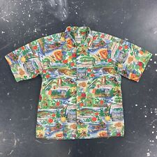 90s Large Reyn Spooner Cotton Hawaiian Shirt Vtg Hawaii Tailored
