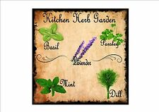 Kitchen Wall Plaque Vintage Style Metal Kitchen Sign Herbs Cafe Sign