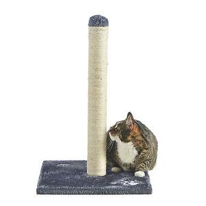 Milo & Misty Cat Scratching Post Scratcher 60cm Grey Woven Sisal Kitten Pole