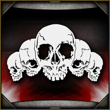 Skull Background 26 -  Airbrush Stencil Template Airsick