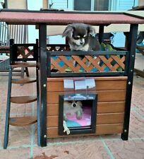 Small Dog Kennel House Home Weatherproof Den Pet Cat Shelter Outdoor Indoor Yard