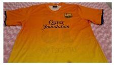 Vintage Mens F.C.B. Messi Orange Football T-Shirt Size S