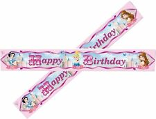 15ft = 5 x Disney Princess Sparkle Party Happy Birthday Foil Banner Decorations
