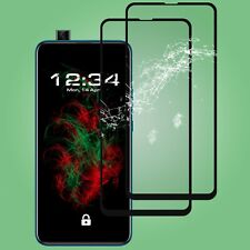 2x Glass Foil Fullscreen Clear Huawei P Smart Z in Black Safety Real 9H