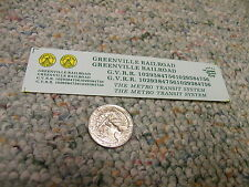 Herald King decals HO Greenville Railroad Metro Transit System green   ZZ27