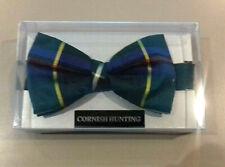 Mens Cornish Hunting tartan silk bow tie - pre-tied in presentation box