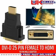 DVI Female Socket to HDMI Male Plug Adapter GOLD Connector