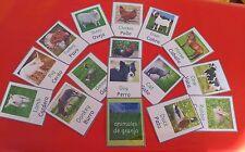 Inglés & español Animales de Granja - 16 Tarjetas Flash-primeros Años-recurso de enseñanza