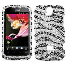 For T-Mobile Huawei myTouch Q U8730 Crystal Diamond BLING Case Phone Cover Zebra